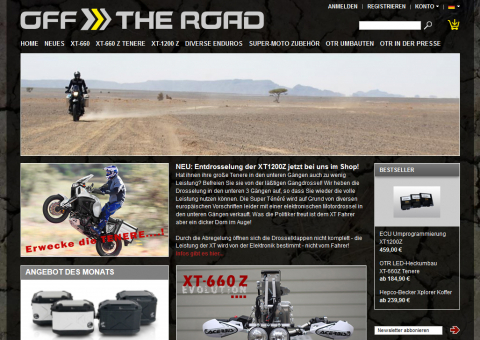 Off the Road - Onlineshop